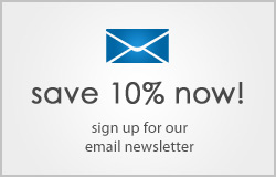 Save 10 percent when you sign up for our email newsletter!
